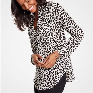 NWOT Ann Taylor Cheetah Blouse